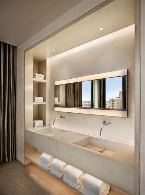 iluminacion baños modernos 9 fotos de ba 241 os modernos con almacenaje abierto inspira
