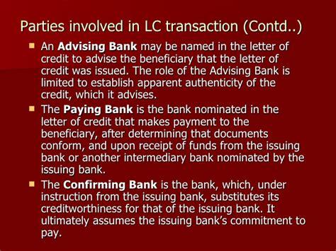 Letter Of Credit Advising Bank letter of credit