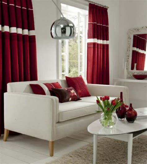 rote gardinen rote gardinen hause deko ideen
