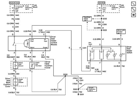 heated seats wiring diagram for buick seat switch diagram