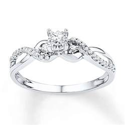 promise rings jared promise ring 1 4 ct tw cut sterling silver