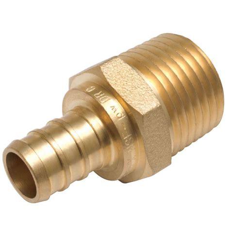 sharkbite 1 2 in brass pex barb uc362lfa the home depot