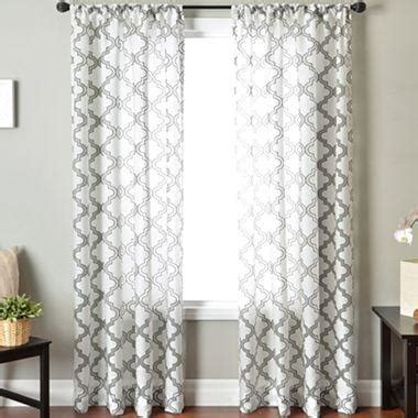 jcpenney white curtains princeton rod pocket sheer panel i jcpenney