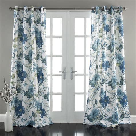 Floral Design Curtains Lush Decor Floral Paisley Room Darkening 84 Inch Curtain Panel Pair Free Shipping Today