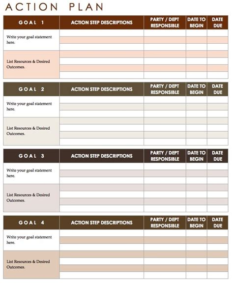 action plan template bikeboulevardstucson com