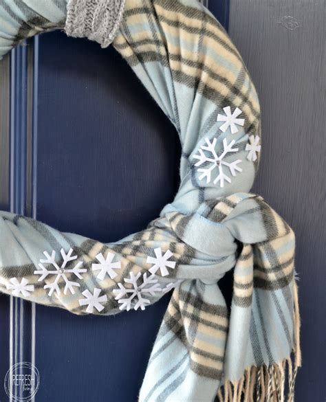 cozy winter wreath  thrift store finds refresh living