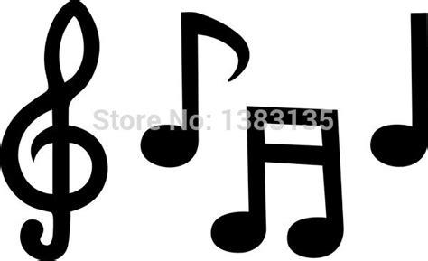 imagenes siluetas musicales moda notas musicales silueta etiqueta engomada del coche