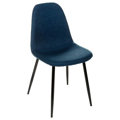 Chaise Navy by Chaise Bleu Navy Tyka Pieds En M 233 Tal Atmosphera