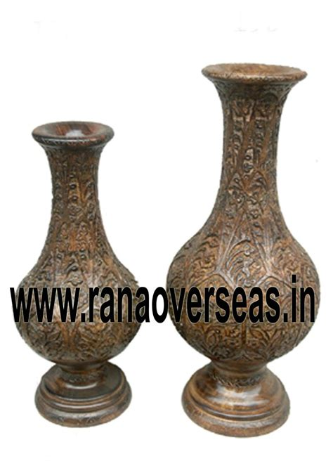 Wooden Flower Vase by Rana Overseas Inc Wooden Flower Vases