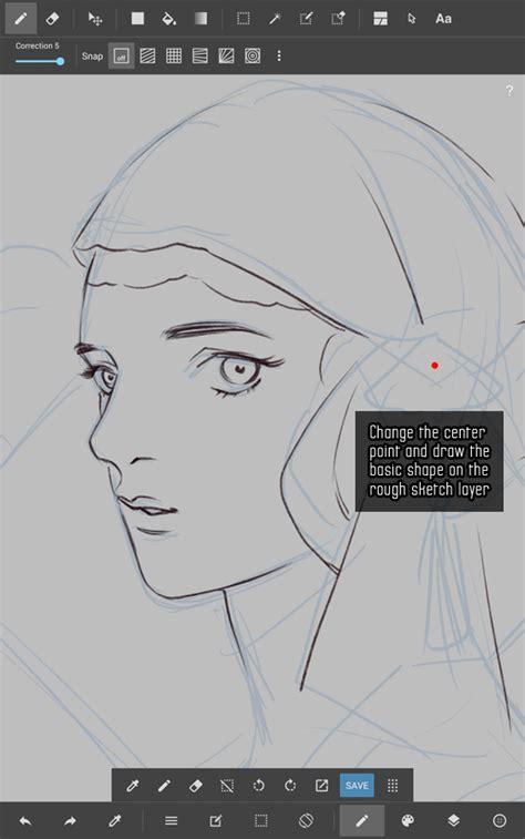 Tutorial Line Art Android | kidchan s medibang paint android line art tutorial part