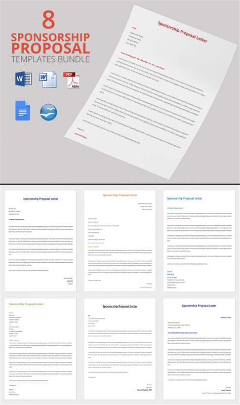 Sle Sponsorship Proposal Template 15 Documents In Pdf Word Sponsorship Template Doc