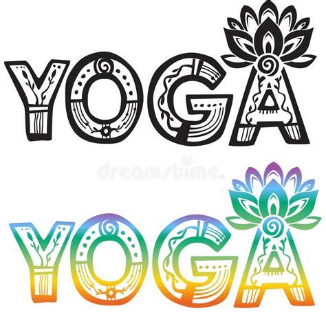 imagenes vectorizadas yoga yoga de la palabra con la flor de loto ilustraci 243 n del