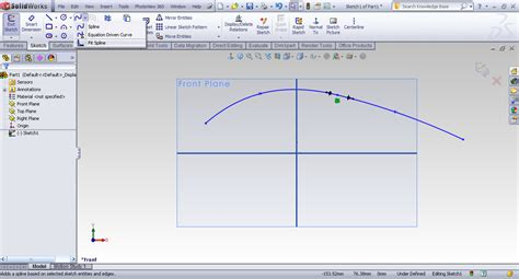 Combine 2 Sketches Solidworks by Tutorial Using Fit Spline Tool To Merge Splines Into One