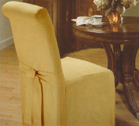 gold decorative armless dining room chair slipcover