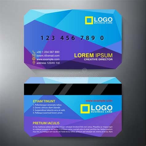 contemporary business card design templates modern business card design template stock vector