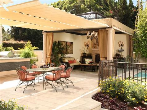 backyard shade options patio cover retractable awning hgtv and outdoor dining