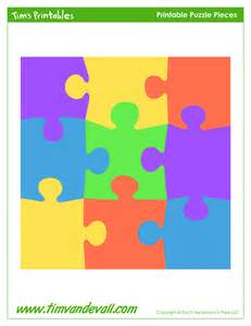 Printable puzzle piece shapes free for personal and educational