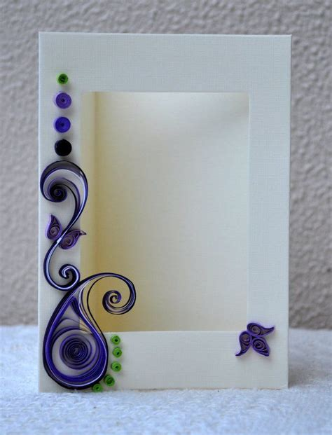 paper quilling frame tutorial quilled card paper quilling quilled photo frame blank card