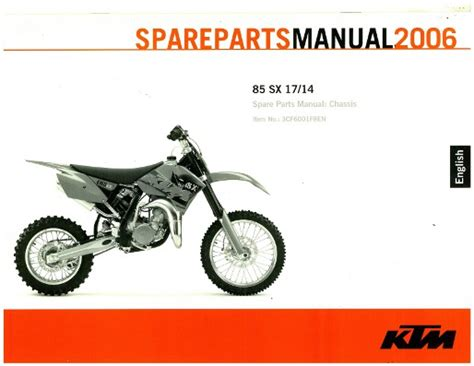 Ktm 85 Parts Manual 2006 Ktm 85 Sx Chassis Spare Parts Manual
