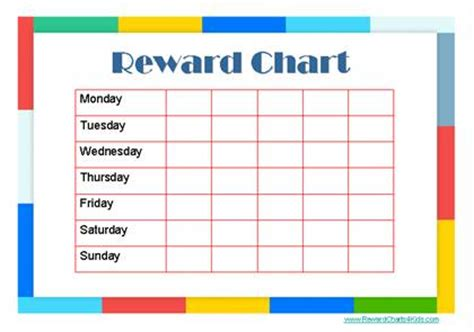 free printable weekly reward charts free printable reward charts new calendar template site