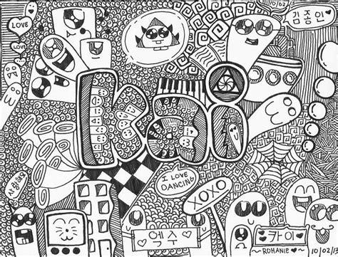 exo doodle wallpaper kai doodle exo 엑소 amino