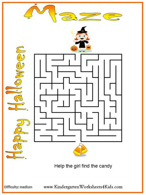 printable mazes intermediate halloween worksheets games activities and printables
