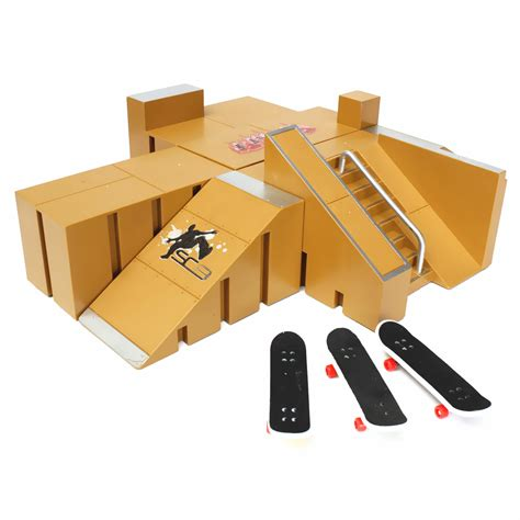 Fingerboard Box 3 3x fingerboard finger board skate r table set professional platform ultimate parks 92a w box