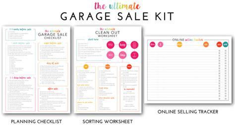yard sale supply checklist free the ultimate garage sale prep kit a free printable
