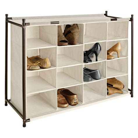 shoe storage container shoe cubby 16 section shoe cubby the container store