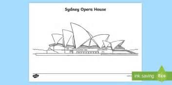coloring page of sydney opera house sydney opera house colouring page australia sydney