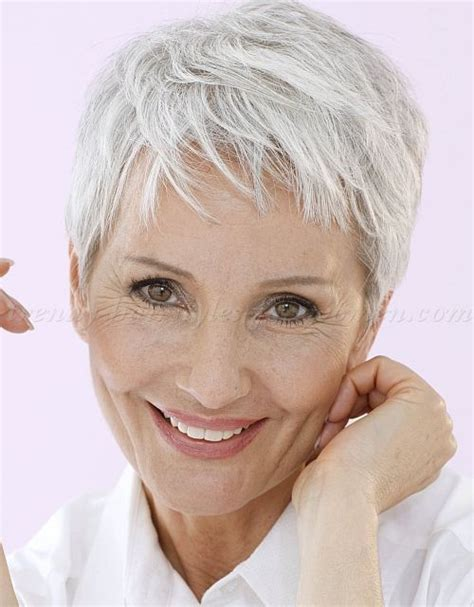 Funky Hairstyles For Women Over 35 | 351 best images about canas corto pixie gray hair pixie