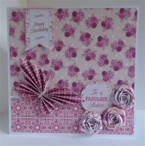 Pembalut In3 Use 9 Pads Pink card designed by julie hickey using bonbon 6x6 paper pad die cuts and template gorgeous card