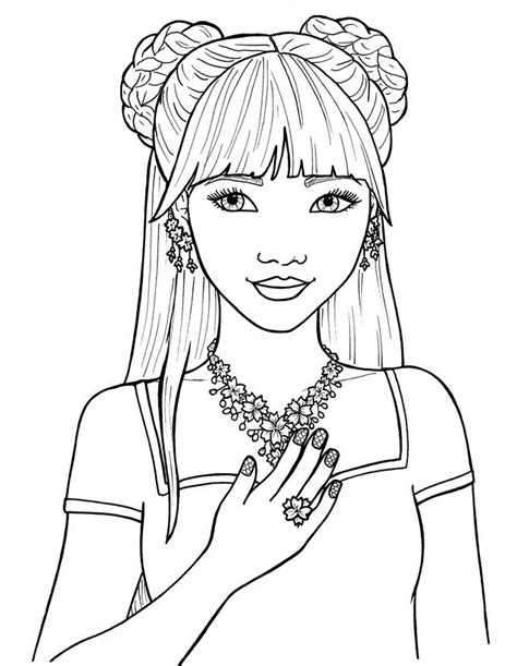 coloring page pretty girl coloring pages of pretty girls free forever coloring