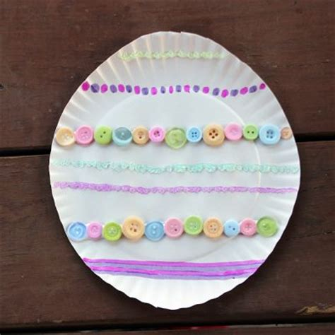 Paper Easter Egg Crafts - paper plate easter egg family crafts