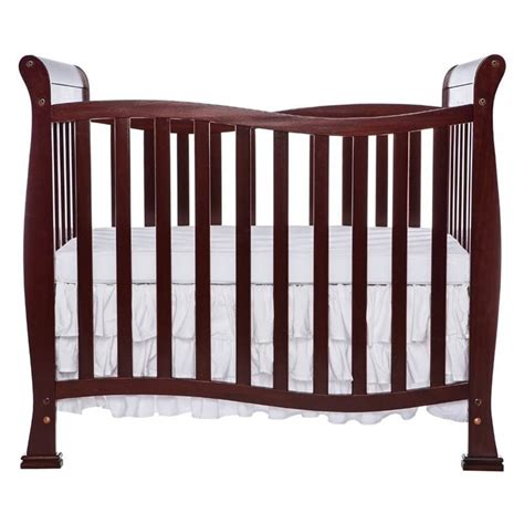 Dream On Me Piper 4 In 1 Convertible Mini Crib In Cherry On Me Mini Crib
