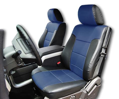 f150 seat covers 2013 ford f 150 2009 2013 black blue iggee s leather custom fit