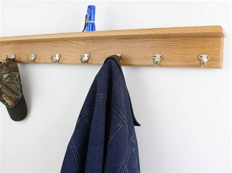 Coat Hook Rack With Shelf by Solid Oak Shelf Coat Racks 3 To 10 Single Style Hook