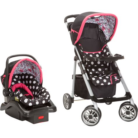 minnie mouse stroller disney saunter sport lc 22 travel system coral flowers