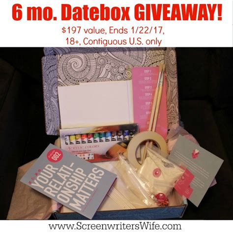 Giveaway Box - new year giveaway datebox at home date night box giveaway the screenwriter s wife