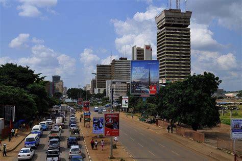 map of lusaka city lusaka zambia tourism