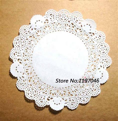 Diskon Paper Doyleys 6 5 250pcs 6 5 quot 165 mm white lace paper doilies doyleys vintage coasters placemat craft