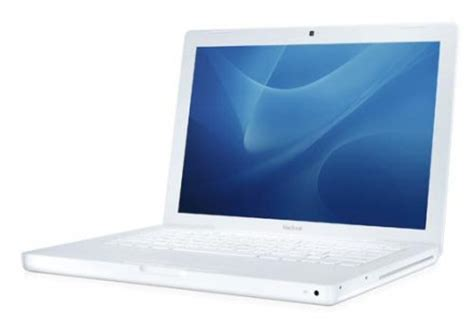 Laptop Macbook White refurbished white apple macbook laptop 13 3 quot mb402b a