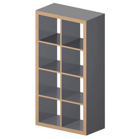 etagere ikea cad and bim object kallax etagere gray wood effect ikea