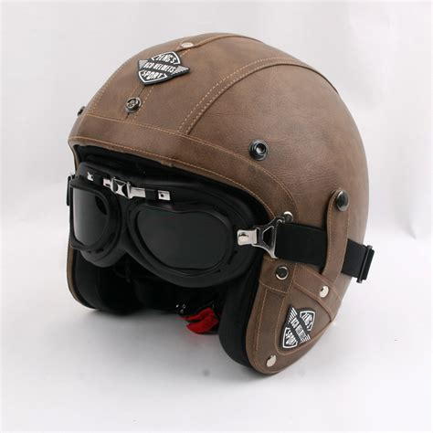 buy vintage motorcycle helmet retro pu