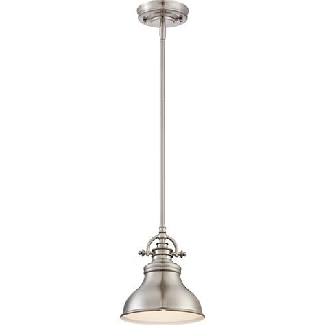 Brushed Nickel Mini Pendant Lights Quoizel Er1508bn Emery Retro Brushed Nickel Finish 9 Quot Mini Pendant Light Fixture Quo Er1508bn