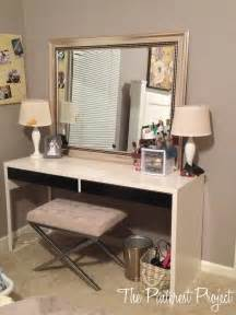 Makeup Vanity Ikea Hack Ikea Hack Desk Into Vanity The Project