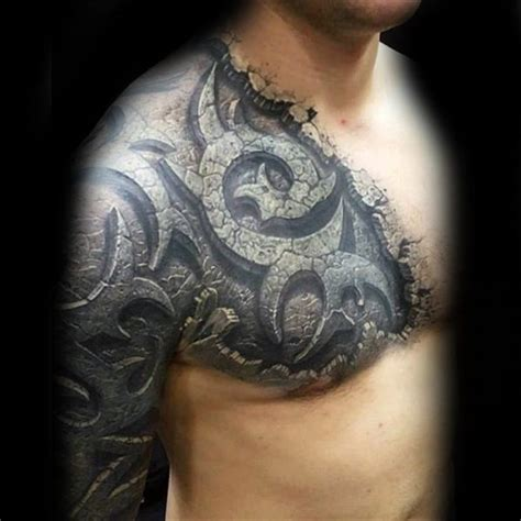 tattoo 3d stone 50 unbelievable tattoos for men inconceivable ink design