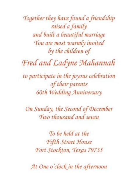 60th wedding anniversary toasts for parents print your own 60th wedding anniversary invitation wording