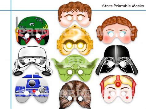 Printable Jedi Mask | unique star wars printable masks party holidaypartystar