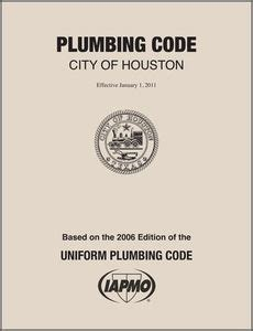 Plumbing Codes By State by 2011 Houston Plumbing Code Amendments 10 11ht